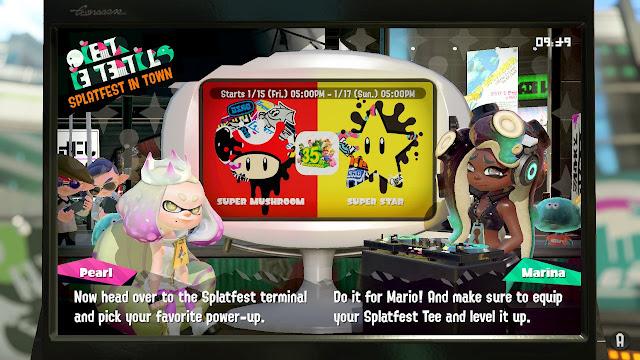 Splatoon 2 Splatfest Super Mushroom Star Do it for Mario Marina