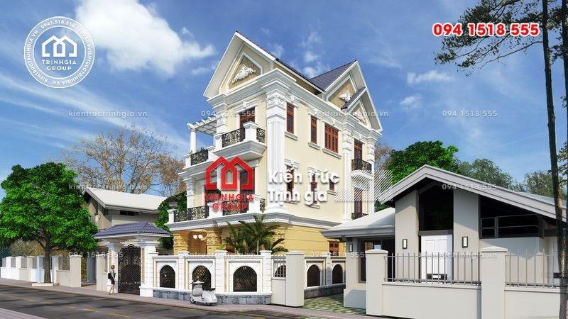 Biệt thự 3 tầng đẹp mái thái tân cổ điển nhẹ nhàng ở Hà Nội - Mã số BT2630 - Ảnh 2