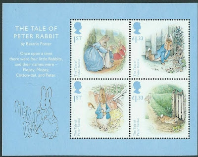 Great Britain 2016 Beatrix Potter Miniature Sheet