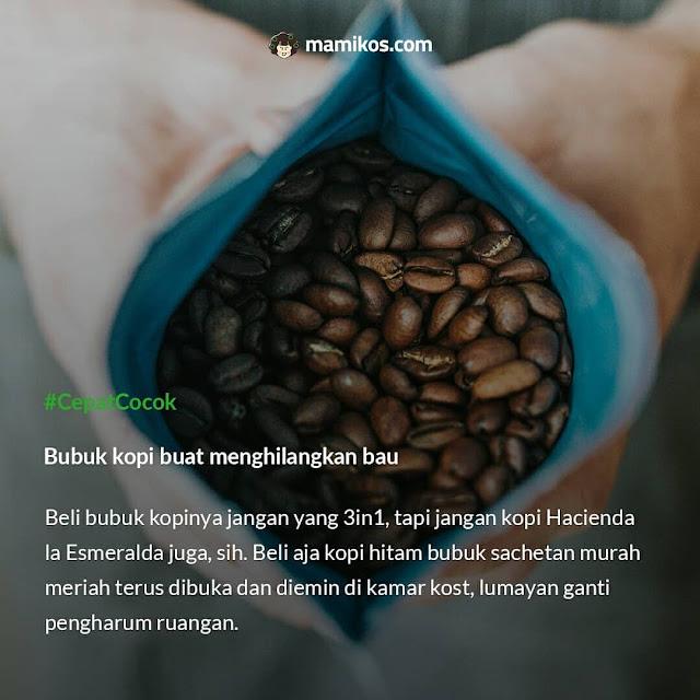 Bubuk kopi buat menghilangkan bau