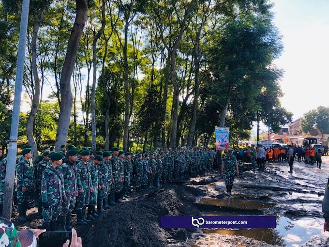 Sempol Bondowoso,Terjadi  Banjir Bandang Yonif Raider  514  Kostrad Kirim Satu Pleton Pasukan