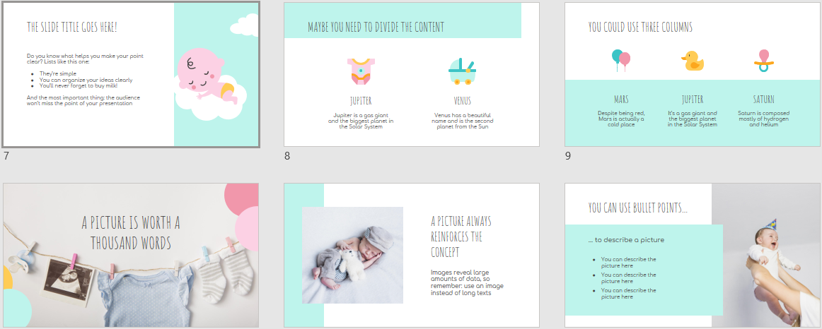 Baby Shower Download Free PowerPoint Templates