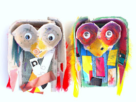Egg Carton Owl Craft for Kids- Great Recycled Art project for kids of all ages