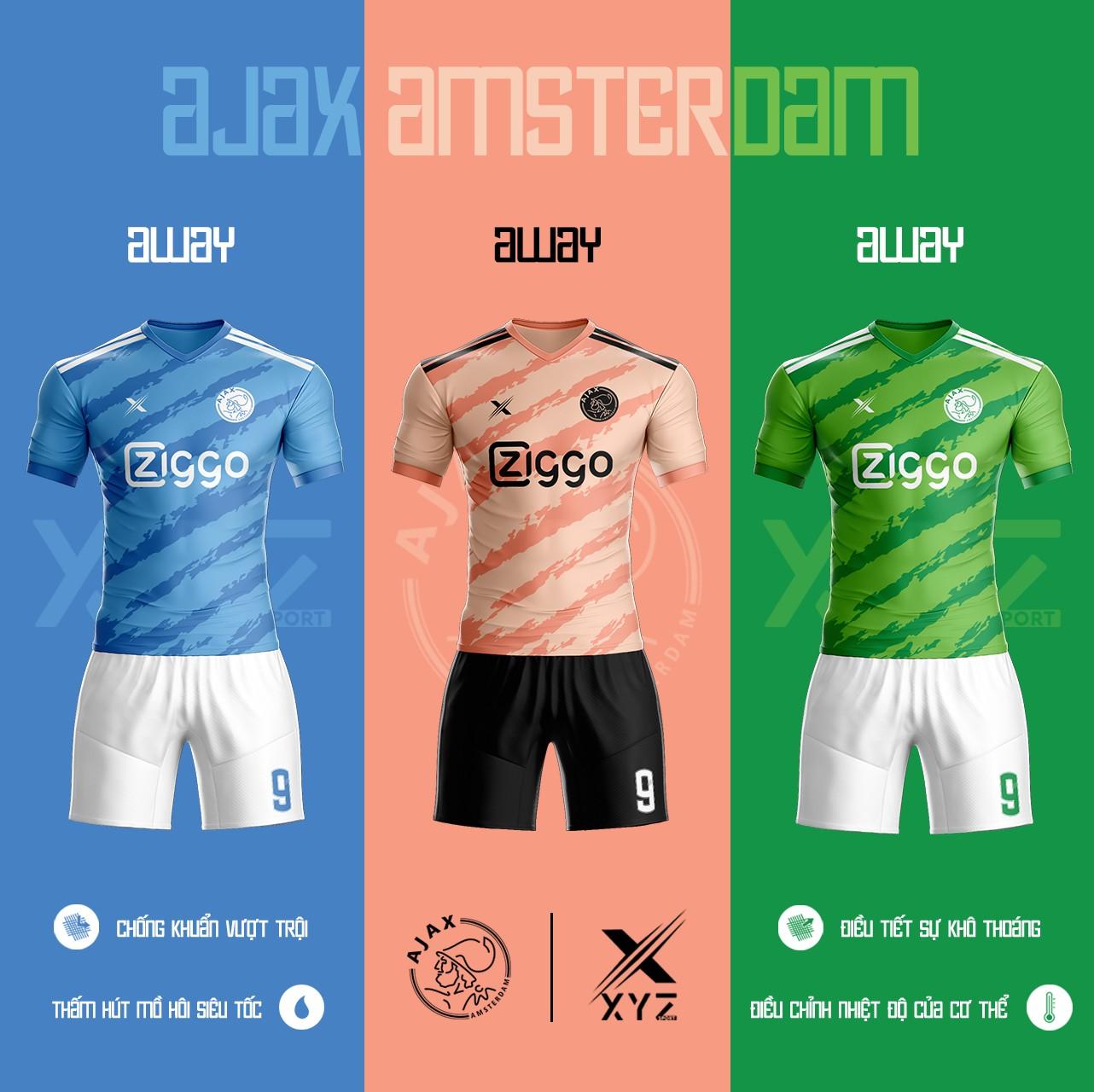 Áo Đấu Bóng Đá Ajax Amsterdam Tự Thiết Kế Đẹp Và Độc - Mã AA02