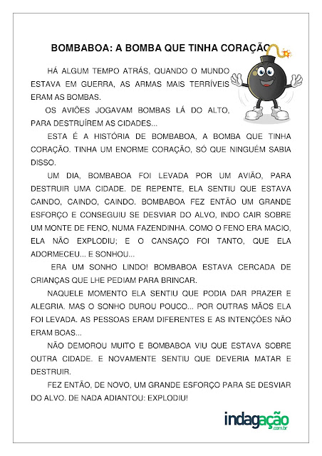 Atividade Bombaboa: a bomba que tinha coração; baixar PDF