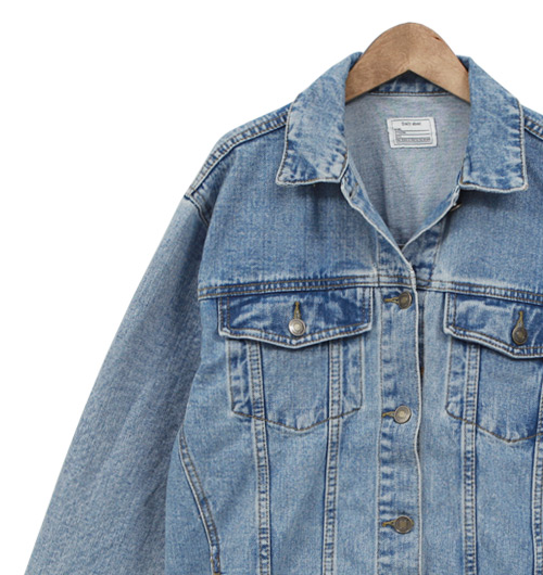 Vintage Damaged Loose Fit Denim Jacket