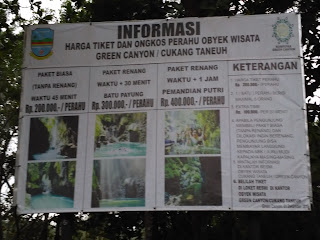 tiket perahu green canyon