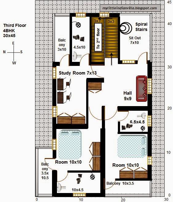 My Little Indian Villa: #15#R8 3BHK-4BHK In 30x45 (West