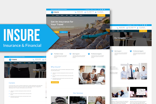 Insure - Insurance, Finance, & Business Muse Template