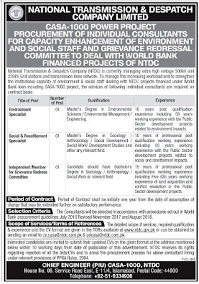 NTDC Jobs In 2020
