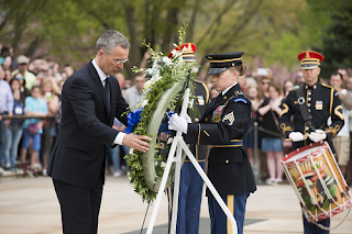 NATO Secretary General Jens Stoltenberg at The Tomb of the Unknown Soldier