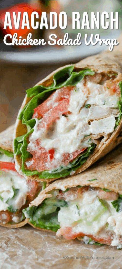 Avocado Ranch Chicken Salad Wrap