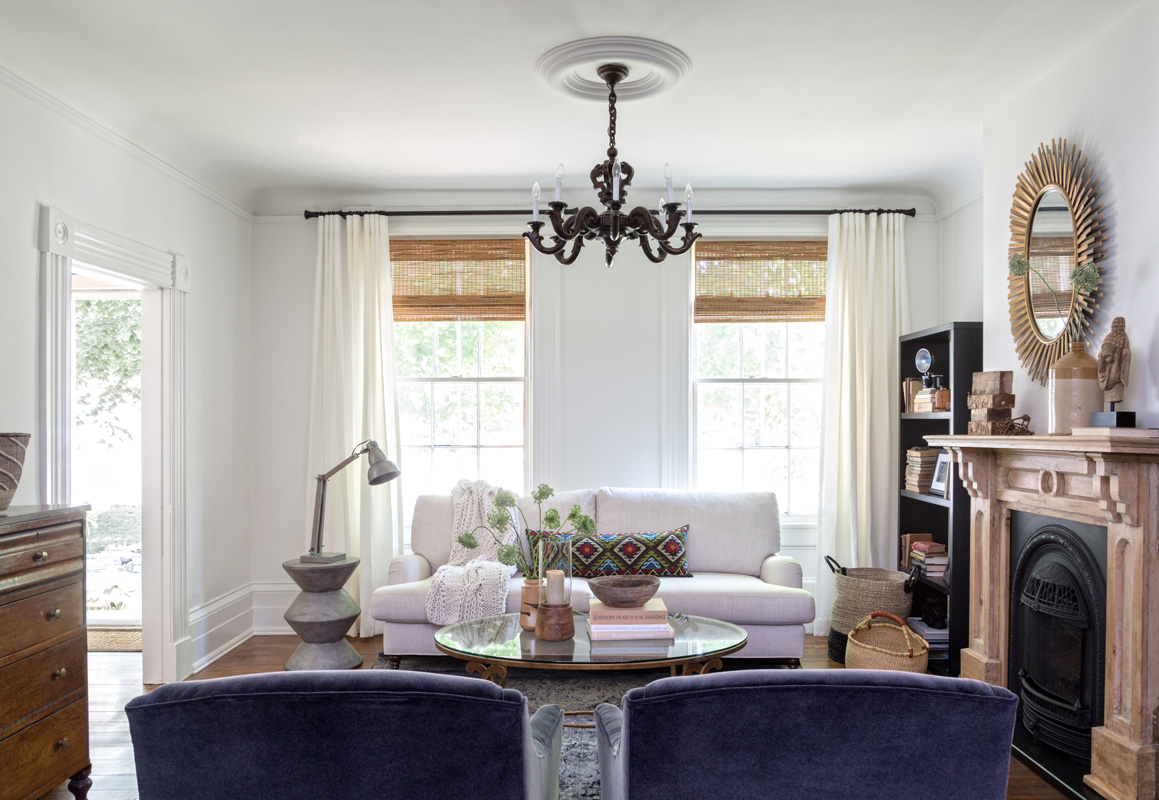 Decorated Mantel Gorgeous Renovated Heritage Cottage By Designer Susan Burns