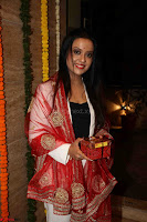 Sachin Tendulkar with his wife at Mata ka Jagrata hosted by Anu Malik 24.JPG
