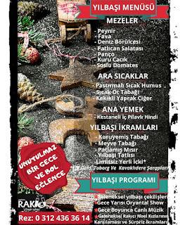 Nenehatun Rakıcı Restaurant Ankara Yılbaşı Programı 2020 Menüsü