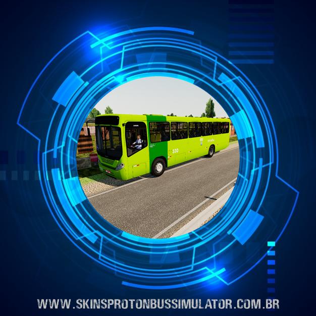 Skin Proton Bus Simulator - Comil Svelto 2008 VW 17.230 EOD Consórcio Poty