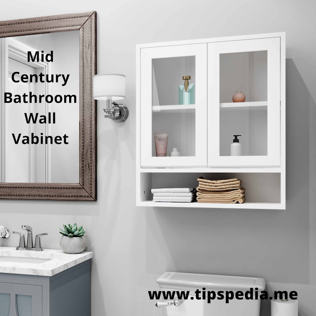 mid century bathroom wall cabinet