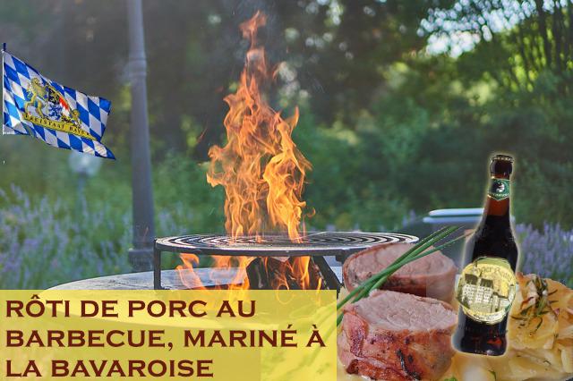 Roti de porc au barbecue, marinade bavaroise (bière)