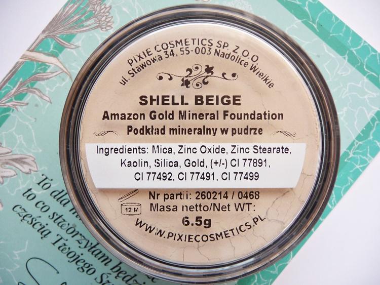 podkład mineralny pixie amazon gold skład