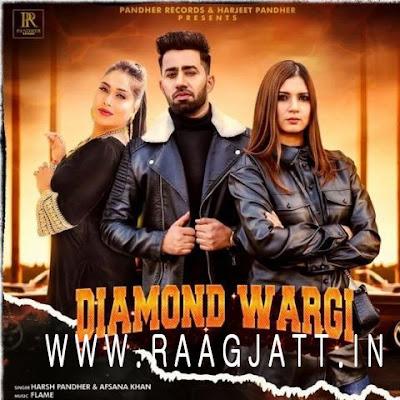 DIAMOND WARGI PUNJABI MP3 SONG BY AFSANA KHAN - HARSH PANDHER LYRICS