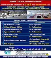 DUBAI JOBS : REQUIRED FOR INTERIOR PROJECT IN DUBAI .g