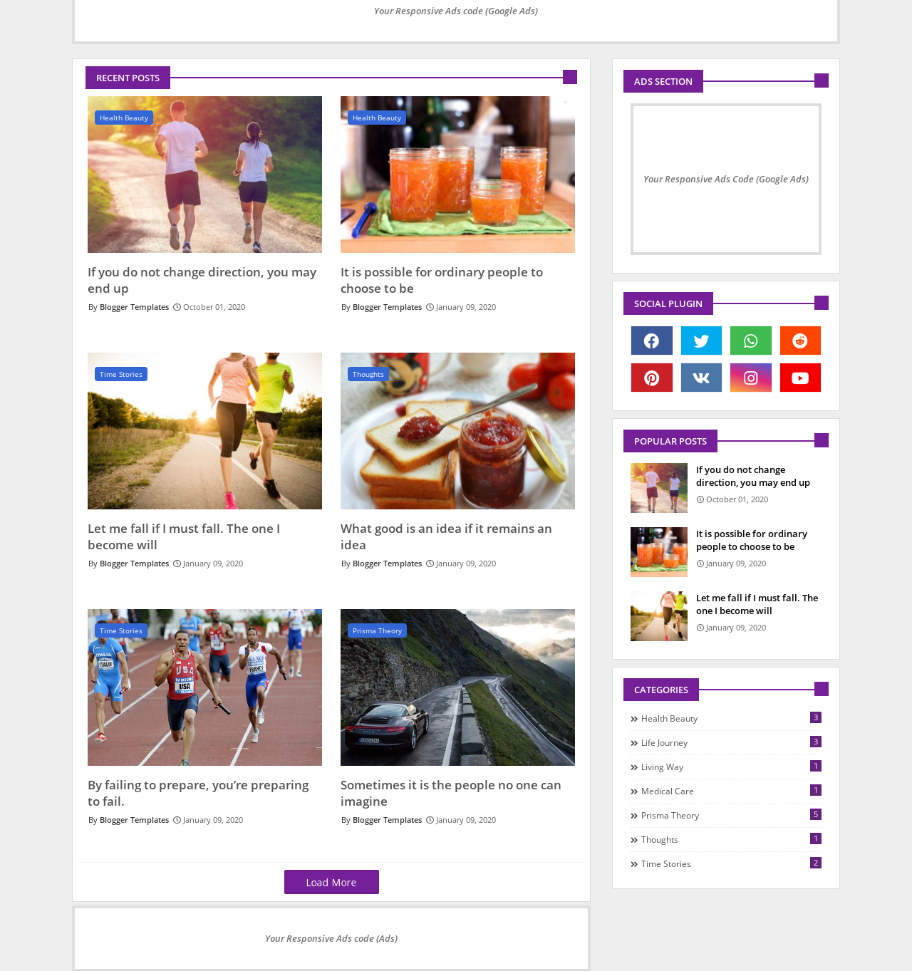 Speedy  Simple And Responsive Blogger Template