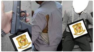 بالصور / العاصمة : منحرفان يعتديان بالعنف الشديد على عون أمن ويفتكان سلاحه الناري