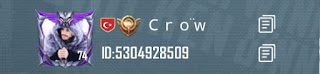 Crow PUBG Mobile ID Number
