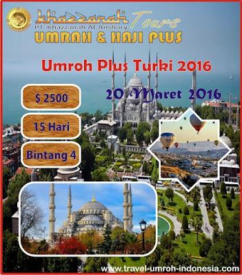 Harga Paket Umroh Plus Turki 2016