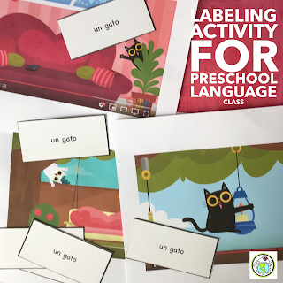 Labeling Activity for Preschool Spanish French