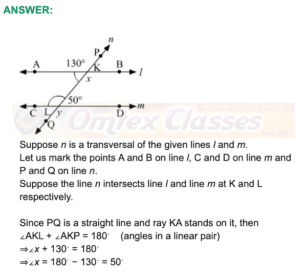 Problem Set 2,  Chapter 2 - Parallel Lines Mathematics Part II Solutions for Class 9 Math