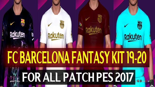 FC Barcelona Fantasy Kit 19-20 by DZPLAYZ For PES2017