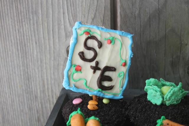 Monogram Graham Cracker Cupcake Topper