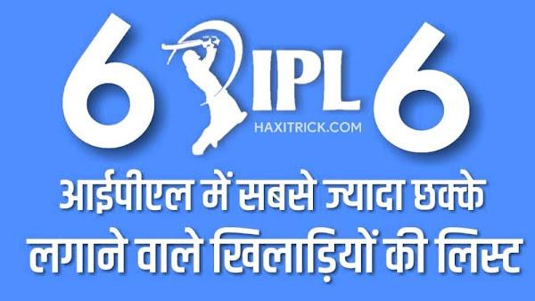 IPL me sabse jayda Sixes