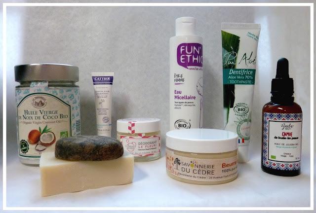 les produits naturels que j'utilise dans la salle de bain