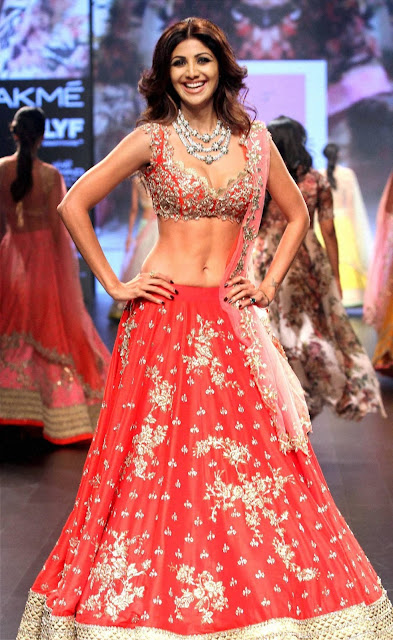 shilpa shetty at lakme fashion week