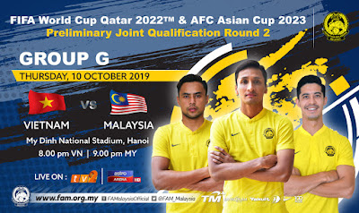Live Streaming Vietnam vs Malaysia (World Cup Qualification) 10.10.2019