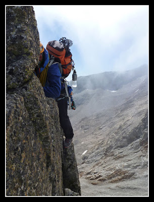Pasos interesantes en la cresta de los Crabioules