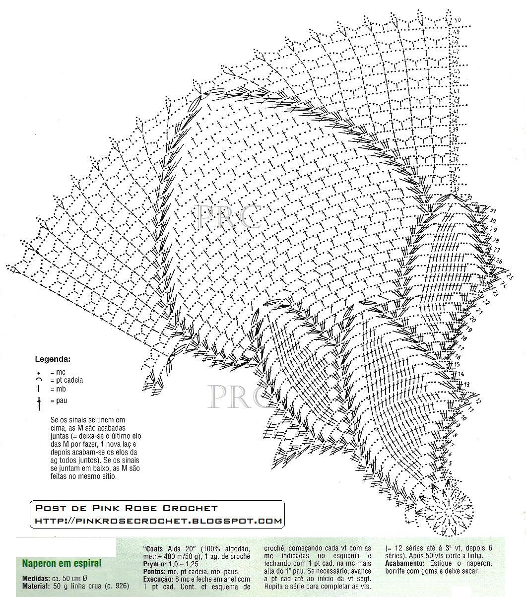 Pink Rose Crochet Graficos Grafico Do Centro De Mesa