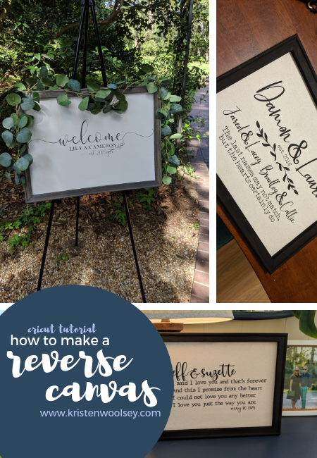 Cricut Tutorial | How To Make A Reverse Canvas