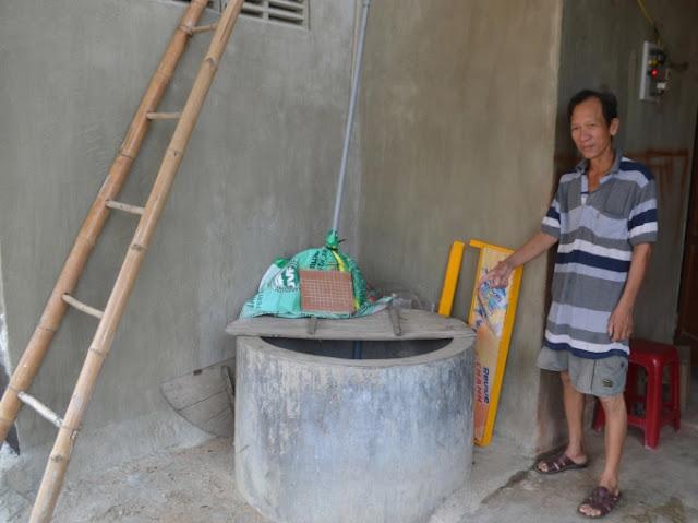 Hàng trăm hộ dân sử dụng nước giếng bị nhiễm vôi