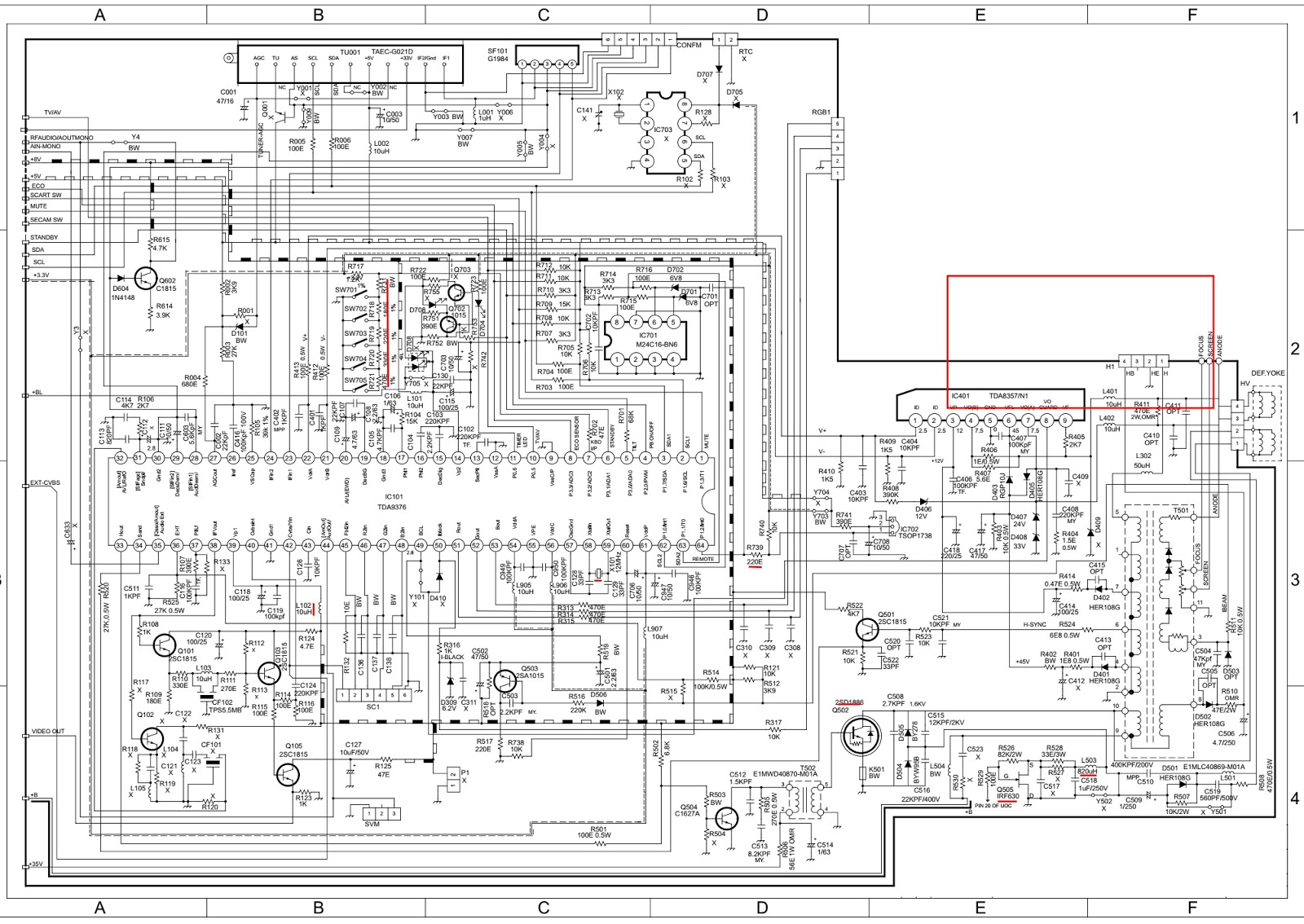 crt tv wiring diagram