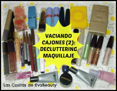 makeup maquillaje decluttering