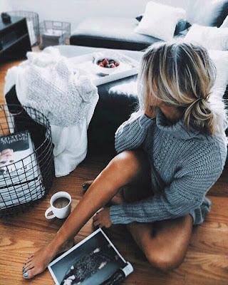 foto tumblr sentada en casa