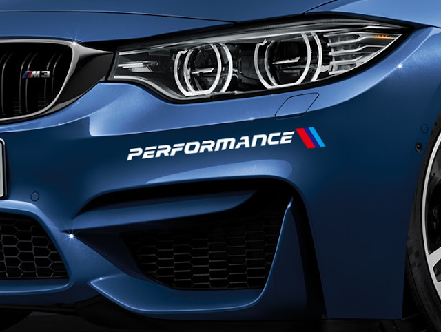 Tem Dán Xe Ô Tô BMW Thể Thao Performance