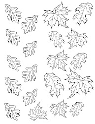 leaves autumn cake template fall leaf coloring outline templates pages print colouring stencil chocolate birdonacake