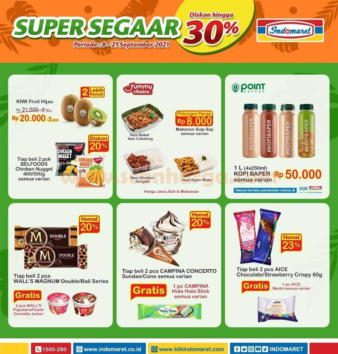 Promo INDOMARET Produk SUPER SEGAAR Periode 8 - 21 September 2021 3