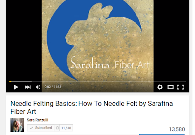 Sarafina Fiber Arts YouTube Channel with Needle Felting Video Tutorials
