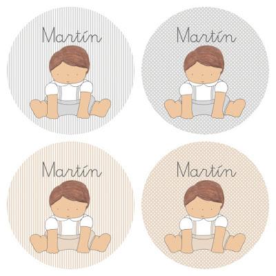 Nuevos diseños de papelería personalizada para BAUTIZOS : etiquetas , recordatorios...