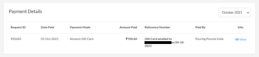 CashKaro Gift Card Payment